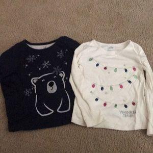 Gap Winter Themed Long Sleeved Shirts